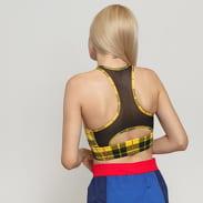 Nike W Everything Plaid Bra žlutý / černý / červený