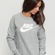 Nike W NSW Essential Crew Fleece HBR melange šedá