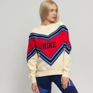 Nike W NSW NSP Crew Fleece krémová / červená / modrá / černá