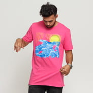 Pink Dolphin Water Color Sunrise Tee růžové