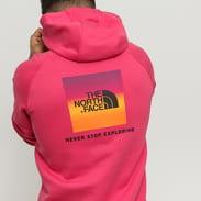 The North Face M Raglan Red Box Hoody růžová