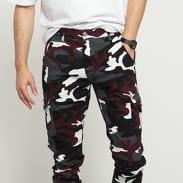 Urban Classics Camo Cargo Jogging Pants 2.0 camo vínové / bílé / tmavě šedé / černé