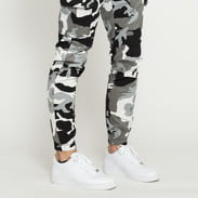 Urban Classics Camo Cargo Jogging Pants 2.0 camo šedé / bílé / černé