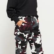 Urban Classics Ladies High Waist Camo Cargo Pants camo vínové / bílé / tmavě šedé / černé