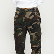 Urban Classics Ladies High Waist Camo Cargo Pants camo zelené