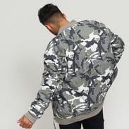 Urban Classics Vintage Camo Cotton Bomber Jacket camo šedá / bílá