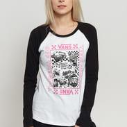 Vans WM Lady Vans Sting LS Tee bílé / černé / růžové