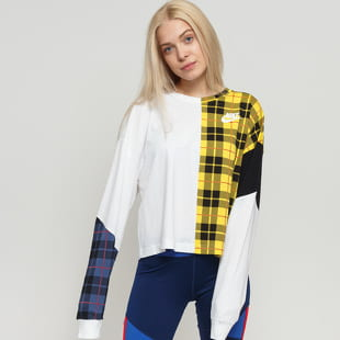 Nike W NSW Top LS Plaid