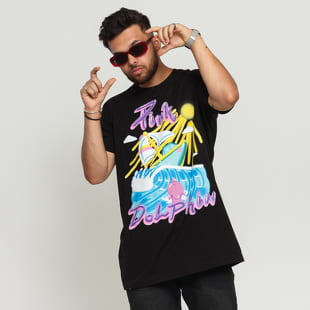 Pink Dolphin Portrait Airbrush Tee