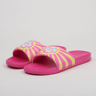 Pink Dolphin Positive Vibrations Slides
