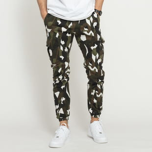 Urban Classics Geometric Camo Stretch Twill Cargo Pants