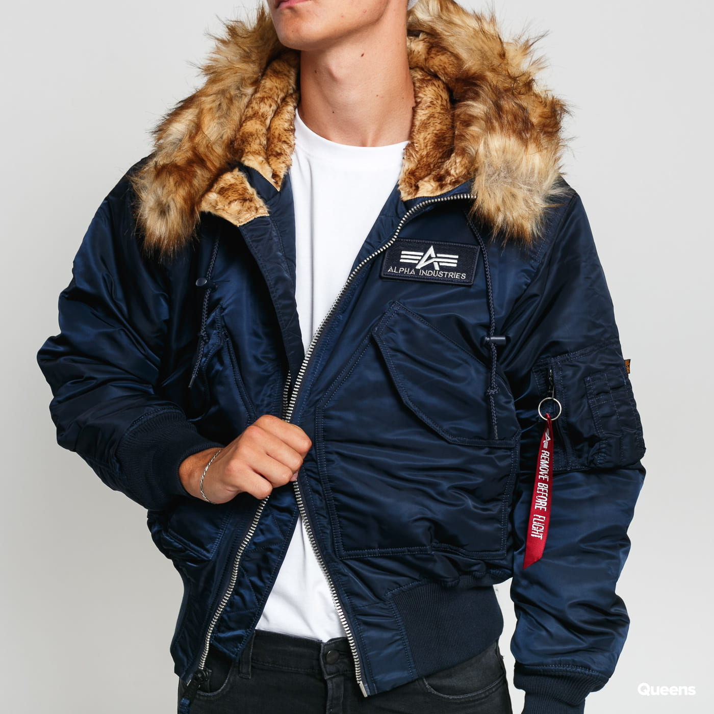 Alpha Industries 45P Hooded Custom nava