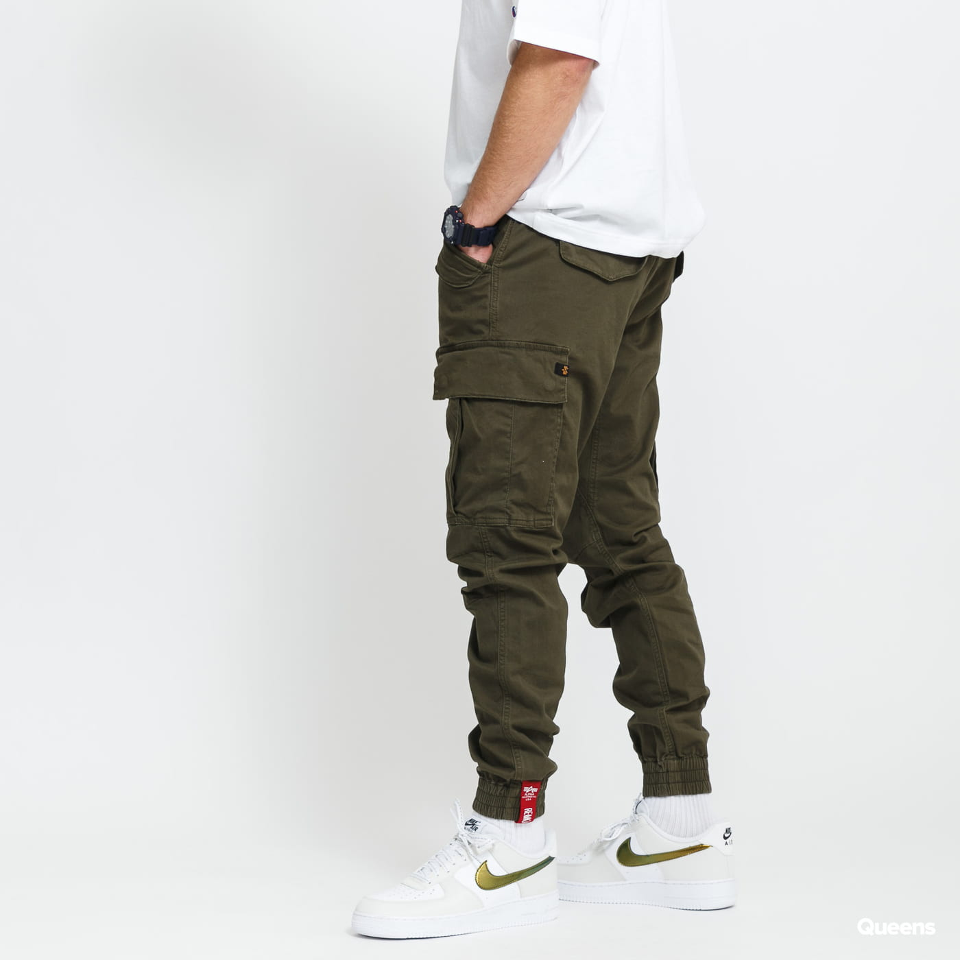 Alpha Industries Airman Pant tmavo olivové
