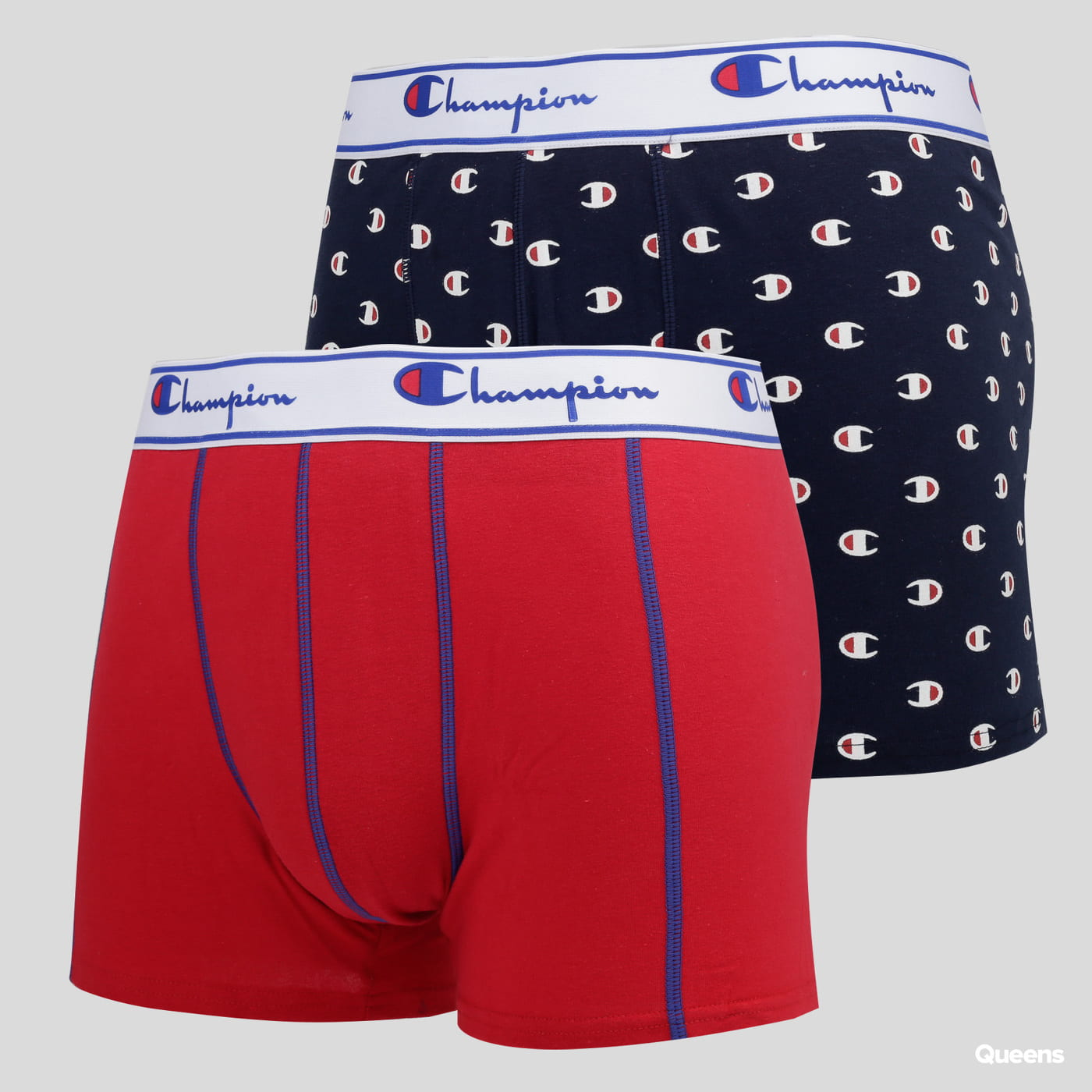 Champion 2 Pack Boxers Small Logo marine / rot