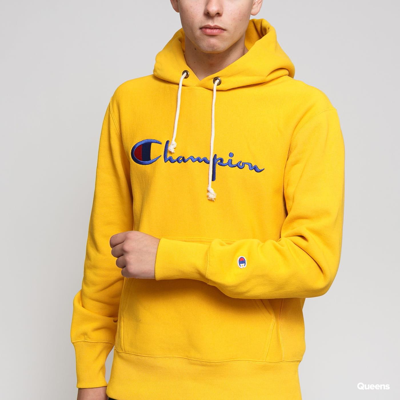 Champion Reverse Weave Hooded tmavožltá
