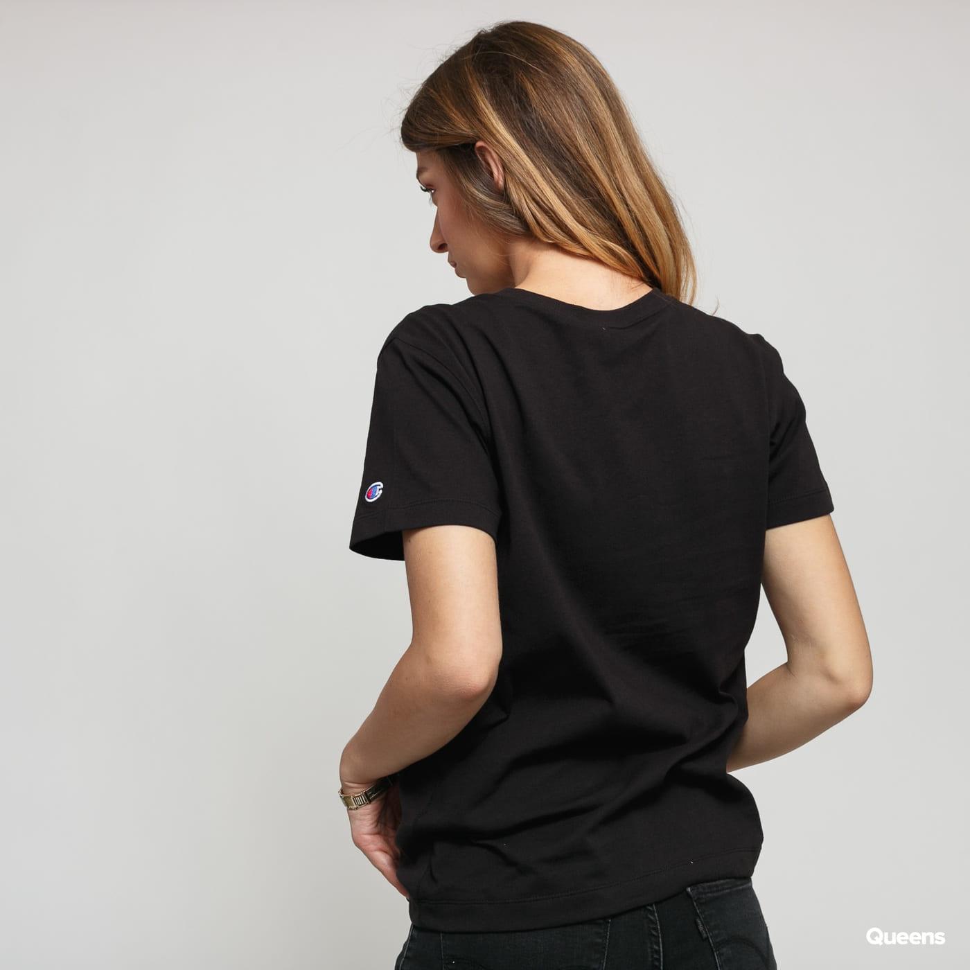 Champion Reverse Weave Small Script Logo Tee čierne