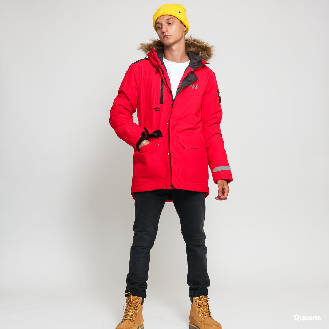 hot-selling real finest fabrics 2019 professional Helly Hansen Svalbard Parka red