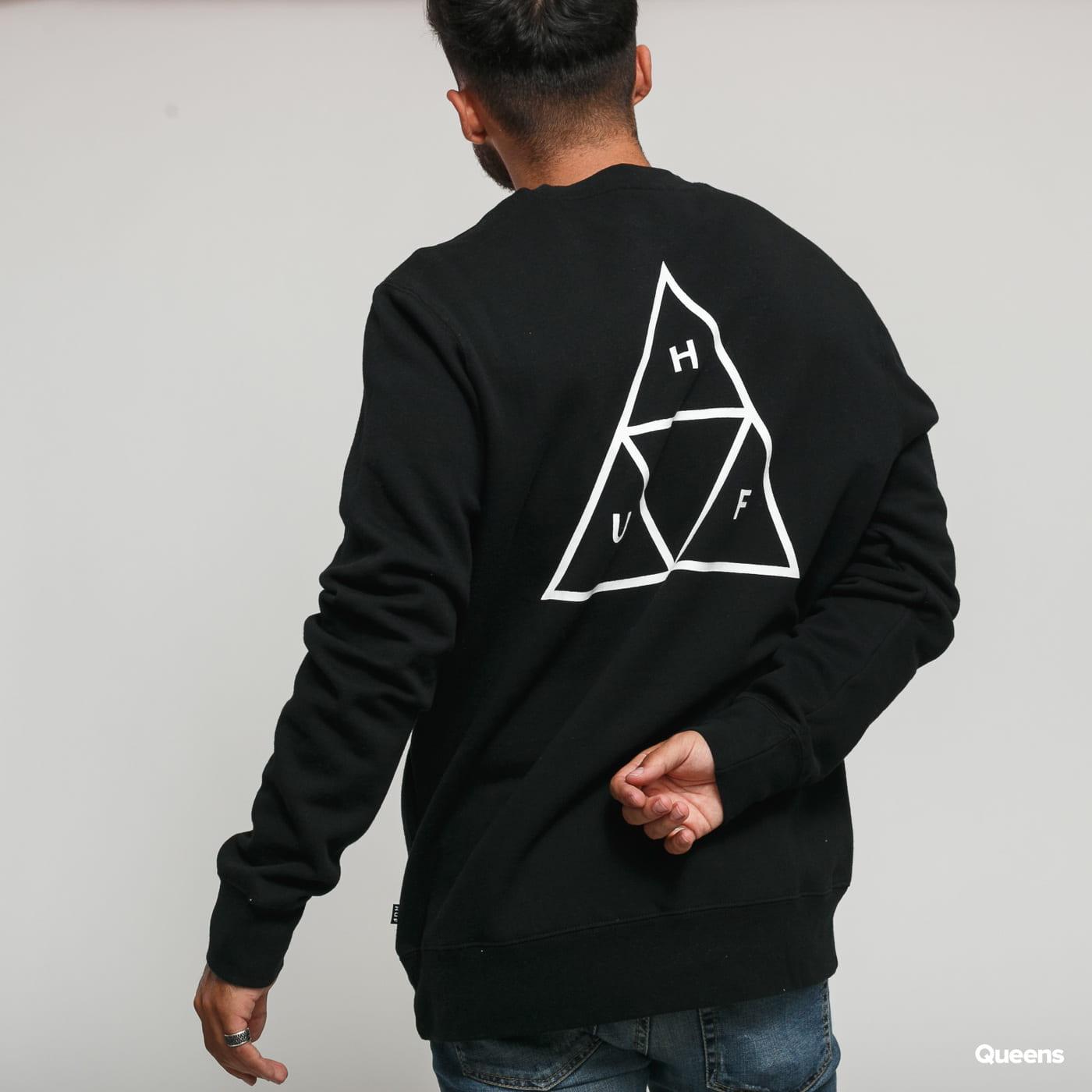 HUF Essentials Triple Triangle Crew čierna