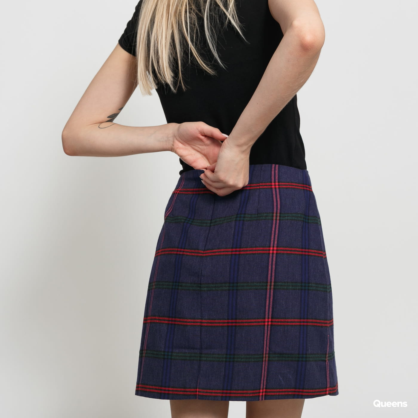 LAZY OAF Getting Plaid Kilt Skirt purple / pink / red / green