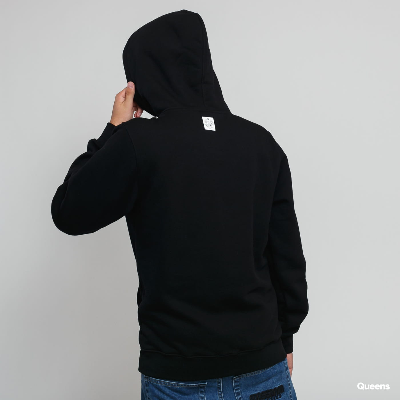 Mass DNM Base Small Logo Hoody schwarz