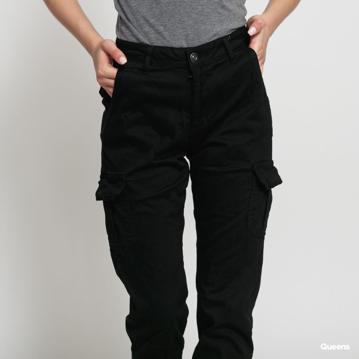 Urban Classics Ladies High Waist Cargo Pants black