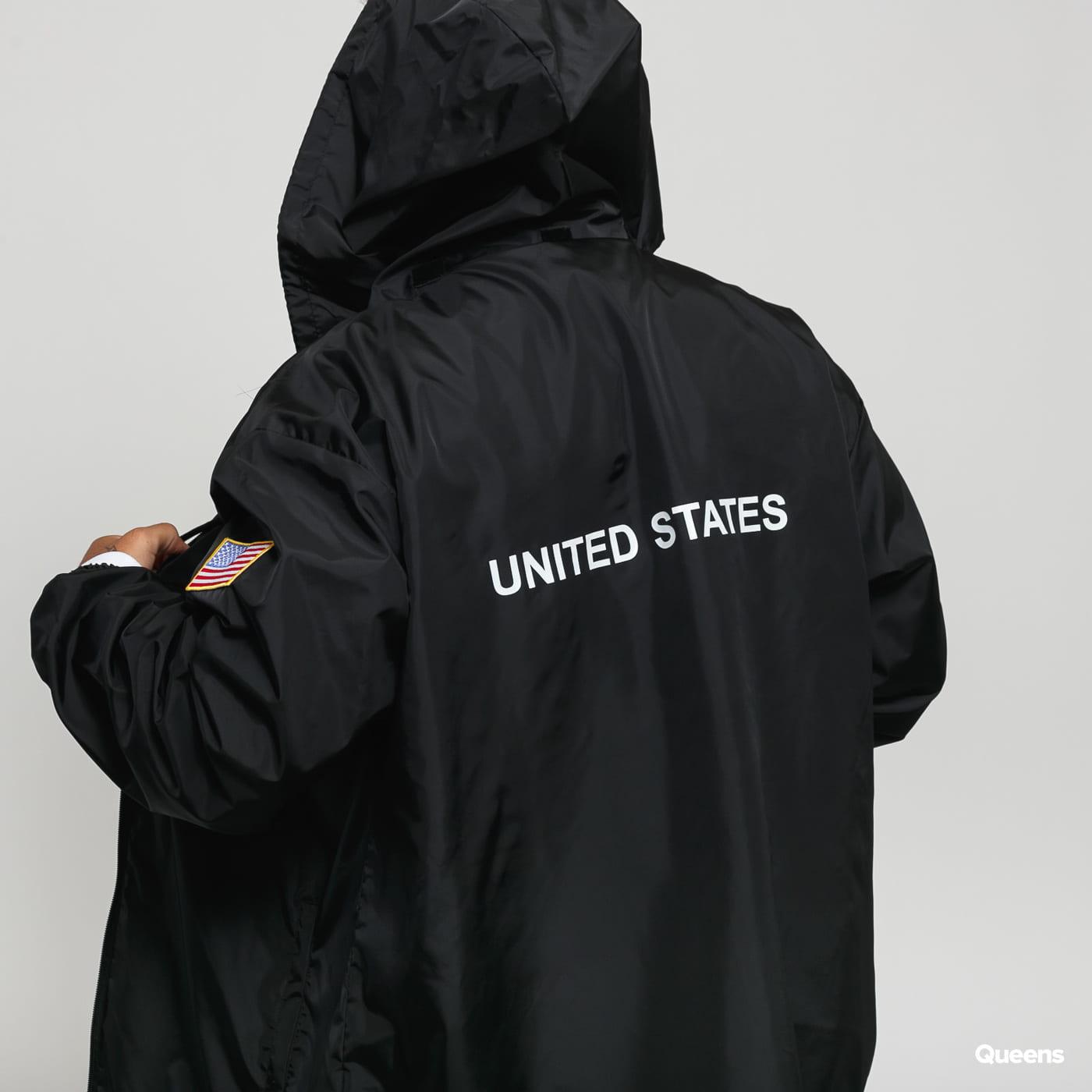 Urban Classics NASA Worm Logo Nylon Windbreaker black