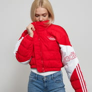adidas Originals Cropped Puffer červená / bílá