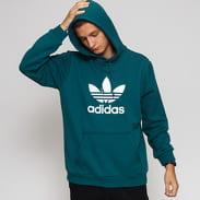 adidas Originals Trefoil Hoodie tmavě zelená