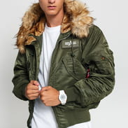 Alpha Industries 45P Hooded Custom tmavě olivová