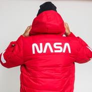 Alpha Industries Hooded Puffer FD NASA červená