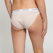 Calvin Klein Bikini - Slip bílé / oranžové / světle zelené / šedé