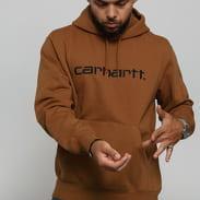 Carhartt WIP Hooded Carhartt Sweat hnědá