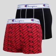 Champion 2 Pack Boxer Briefs černé / červené