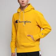 Champion Reverse Weave Hooded tmavě žlutá