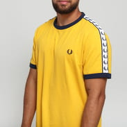 FRED PERRY Taped Ringer T-Shirt žluté