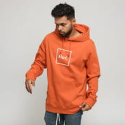HUF Box Logo Hoodie tmavě oranžová