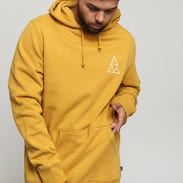 HUF Essential Triple Triangle Hoodie tmavě žlutá