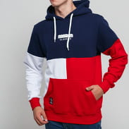 Mass DNM Capital Hoody navy / červená / bílá