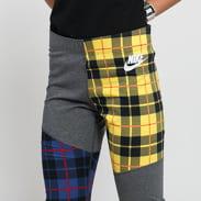 Nike W NSW Legging Plaid melange tmavě šedé / žluté / černé