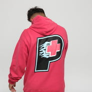 Pink Dolphin Flame Plus Hoodie tmavě růžová