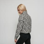 Urban Classics Ladies AOP Polar Fleece Troyer bílá / béžová / černá