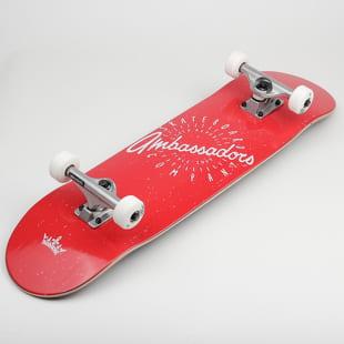 Ambassadors Komplet Skateboard Spin Red II.
