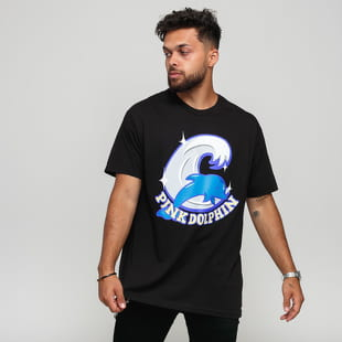 Pink Dolphin Shimmer Script Tee