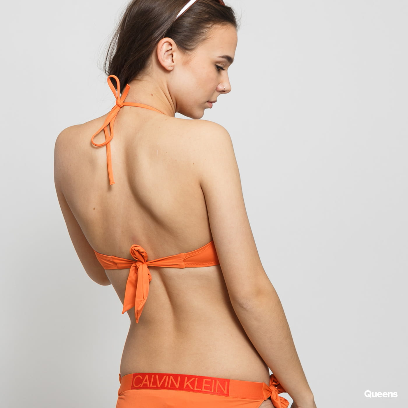 Calvin Klein Bandeau RP oranžové
