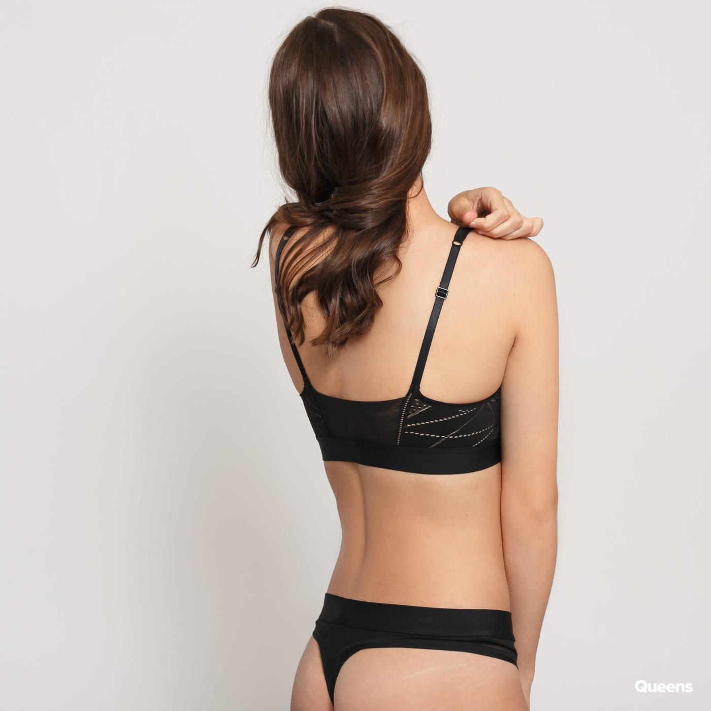 Calvin Klein Unlined Bralette čierne