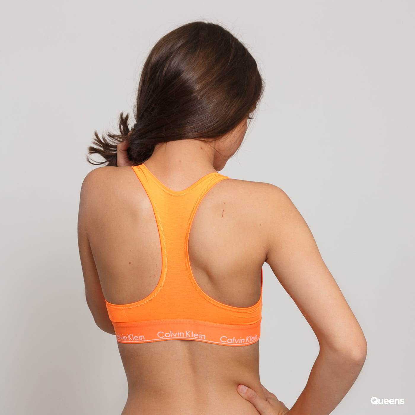 Calvin Klein Unlined Bralette neon orange