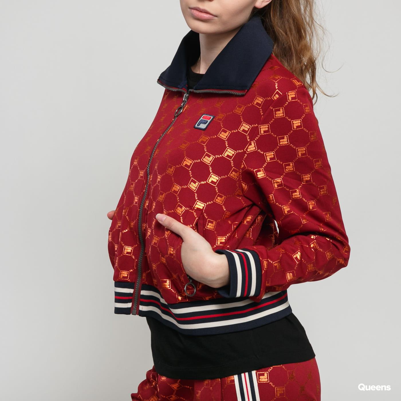 Fila W Lerdidwen AOP Track Jacket bordeaux / orange