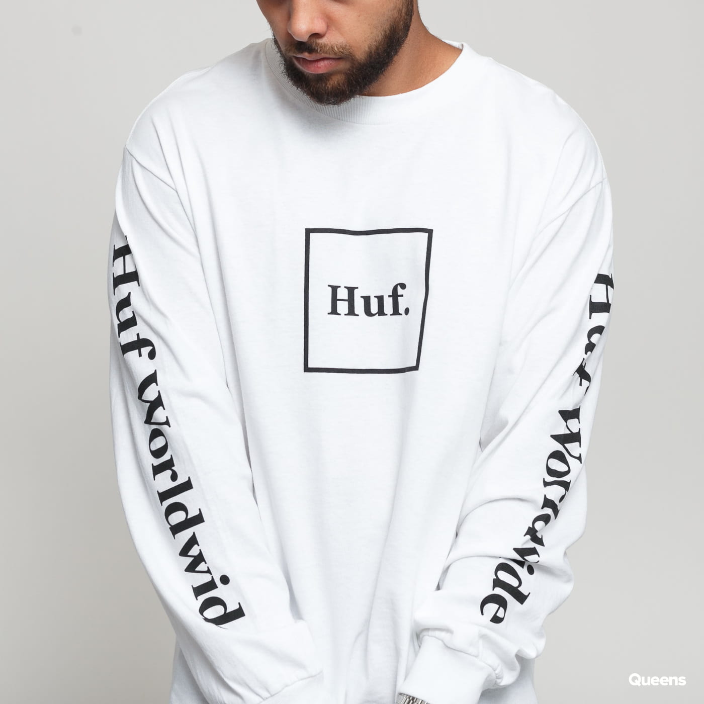HUF Essentials Domestic LS Tee blue / turquoise