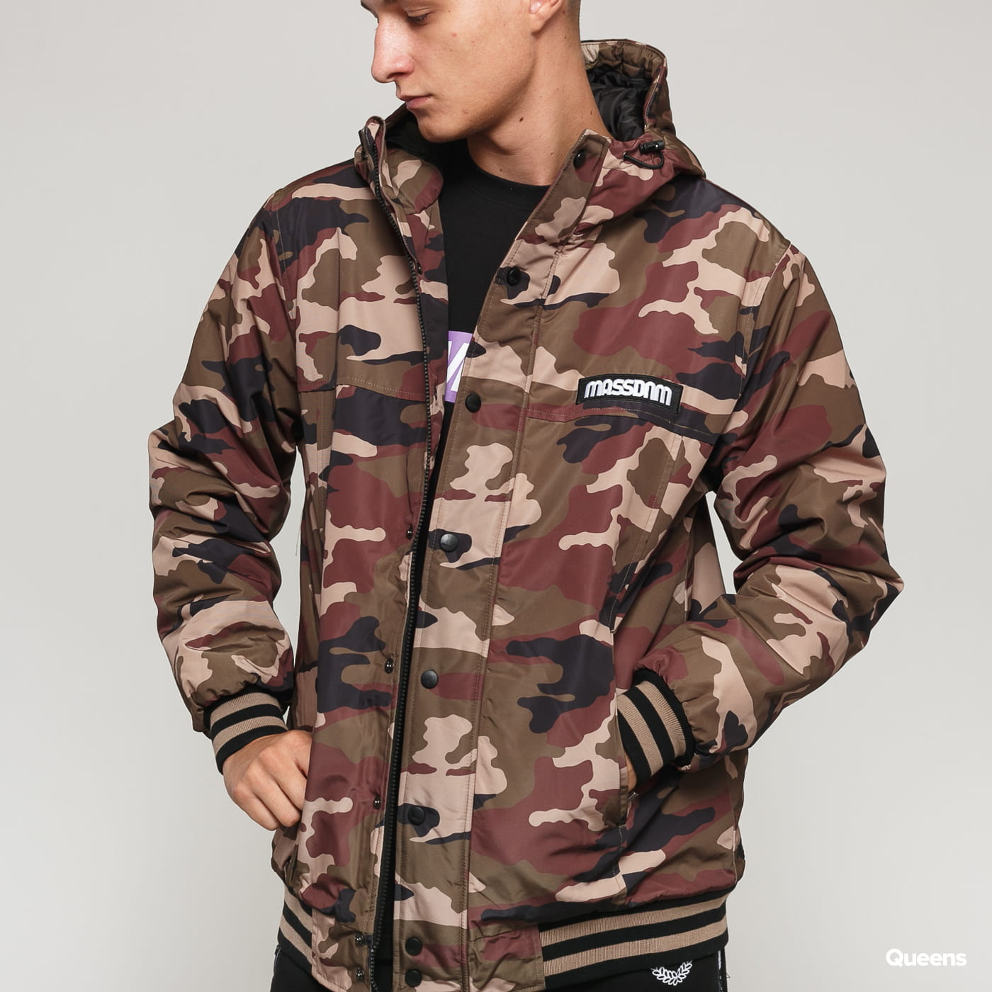 Mass DNM District Jacket camo zelená