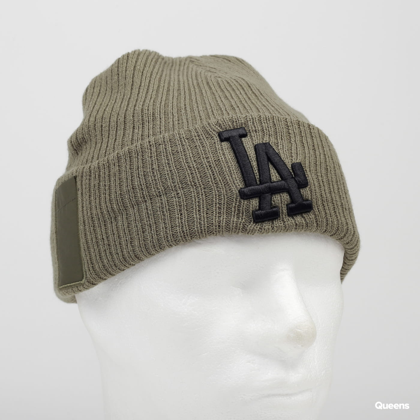 New Era MLB Utility Cuff Knit LA olive